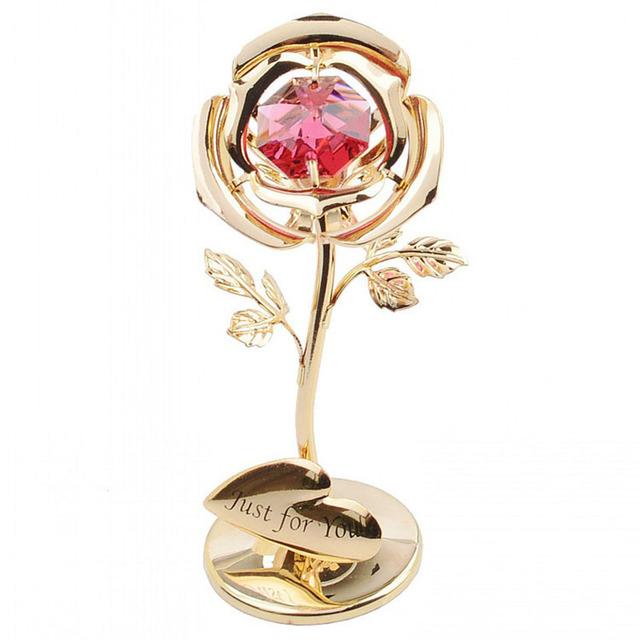镶钻玫瑰花 七夕情人节圣诞节创意礼物 老婆情人女友生日礼盒礼品