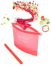 Silicone thực phẩm tươi sống túi lưu trữ túi niêm phong túi thực phẩm silica gel silica gel túi niêm phong túi lưu trữ di động Túi / phim tươi