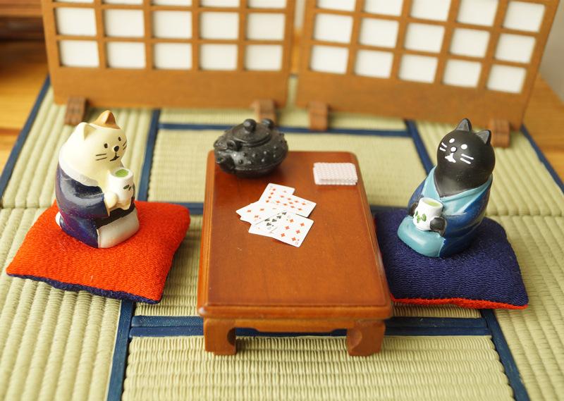 日本迷你杂货 配件手工?#22836;?#23567;木桌 娃屋场景摆拍道具