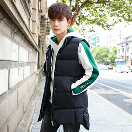 Spring and autumn new long Japanese casual men's vest youth fashion slim jacket cotton men