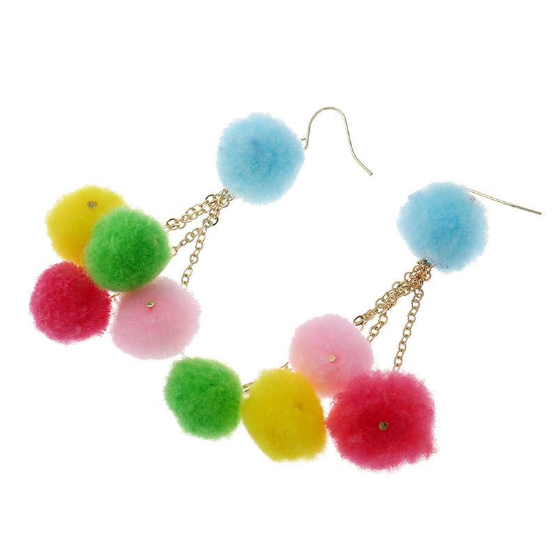 Occident and the United States alloy Handmade earring (Mixed color)NHNNZ3015-Mixed color