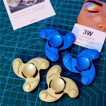 厂家直销锌合金三角指尖陀螺 金属手指陀螺 减压玩具指尖陀螺三叶