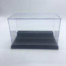 拼裝式一體盒無凸出邊有機玻璃亞克力擺設展示盒手辦21*11*13