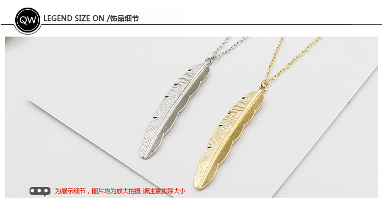 Fashion alloy leaf feather womens necklace NHDP171378