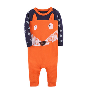 New male and female baby animal shape jumpsuit one-piece romper one-piece long-sleeved flat-footed crawling clothing outing crawling clothing