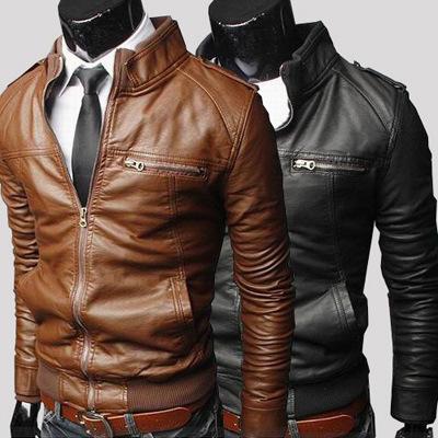 外贸男装批发男士机车皮衣2021春秋冬新款皮外套韩版修身男皮夹克