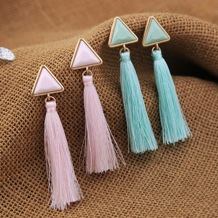 Occident and the United States alloy plating Earrings (Pink)NHQD3712