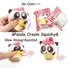 PU慢回彈squishy熊貓雪糕包包手機掛件squishyfun公仔玩具