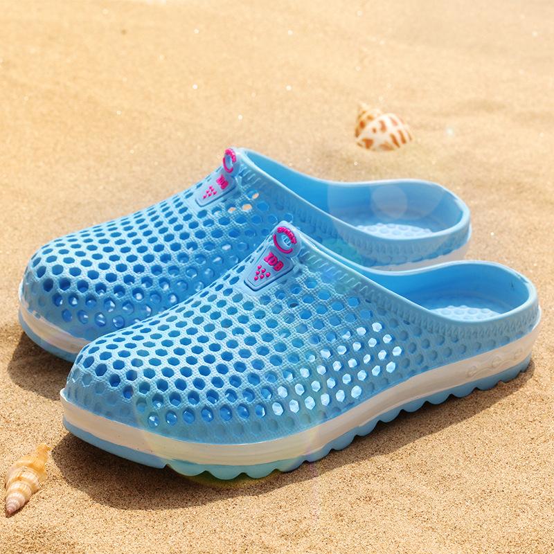 夏季男女式花园鞋 鸟巢情侣室外镂空透气运动漂流沙滩洞洞鞋批发