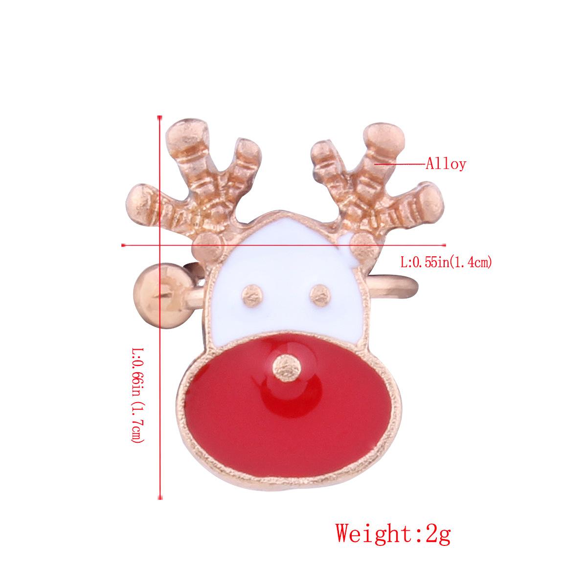 Korean Korean style Korean style alloy plating earring (E1103 Christmas crutch)NHNMD3851-E1103 Christmas crutch