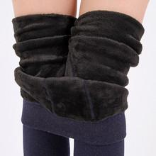 加絨加厚打底褲 秋冬季女韓版七彩棉褲 外穿顯瘦緊身一體保暖褲