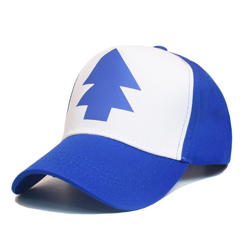 外贸爆款怪诞小镇GravityFalls迪普松树同款鸭舌帽棒球帽批发