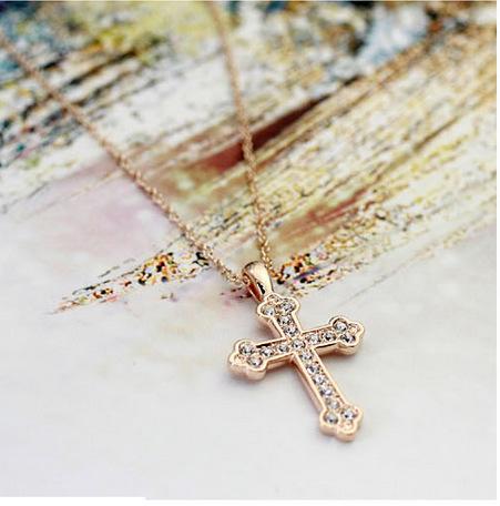 natural alloynecklace (Rose gold)NHLJ3357-Rose gold