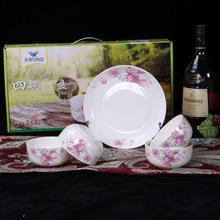 新款青花瓷碗 陶瓷礼品碗套装 家用创意碗筷套装 促销餐具礼品碗
