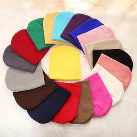 韩版秋冬季帽子儿童针织帽毛线亲子宝宝秋冬保暖糖果帽批发