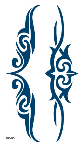 厂家供应一次性防水纹身贴 性感图腾藤蔓花颈腰部刺青水转印贴纸