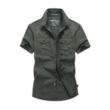 短袖衬衫男夏季新款宽松大码纯色衬衣休闲半袖衫批发1391
