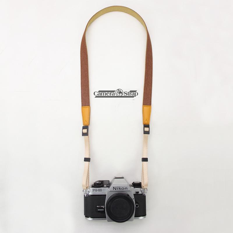攝途牛仔窄款相機背帶減壓微單相機肩帶單反相機帶拍立得背帶中性