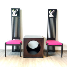 新中式餐椅 现代中式高背椅中国风酒店会所椅子洽谈椅家具定制