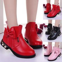 Giày boots bé gái thời trang, thiết kế lót lông, kiểu dáng xinh xắn