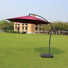 户外遮阳伞3米边柱伞花园露台庭院大太阳伞地中海手推伞