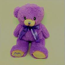 廠家毛絨玩具定制新款紫色薰衣草味泰迪熊來圖來樣加LOGO