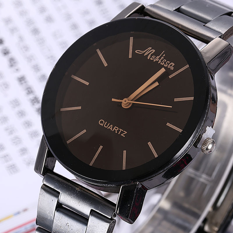Foreign Trade Men's Brand Creative Watch Aliexpress Ladies Fashion Steel Belt Quartz Watch Manufacturer Spot One Generation