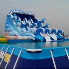 江苏厂家直销2019年新款 充气玩水滑梯 水上冲关 夏季水上乐园