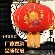 新年春节大红灯笼阳台节日乔迁宫灯户外植绒手工喜庆装饰品圆灯笼