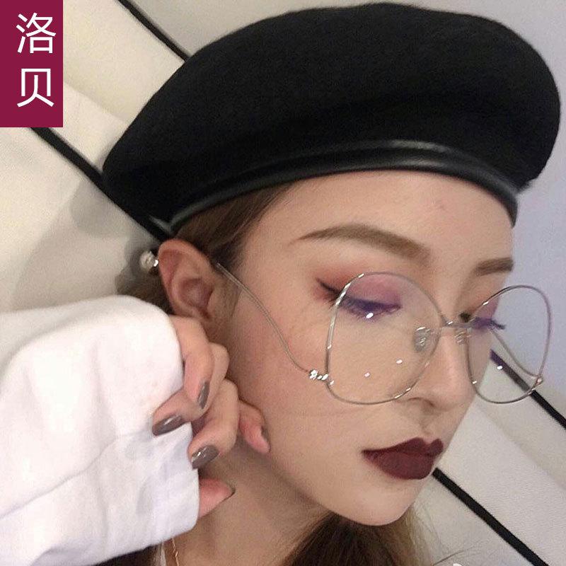 秋冬天新潮定制包边羊毛保暖韩国女画家贝雷帽蘑菇帽批发复古军帽