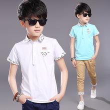 童装夏季新款男童体恤套装儿童纯棉短袖POLO衫套装一件代发