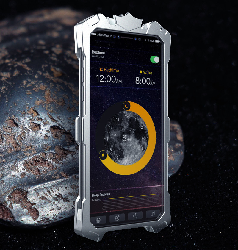 SIMON THOR Aviation Aluminum Alloy Shockproof Armor Metal Case Cover for Apple iPhone X