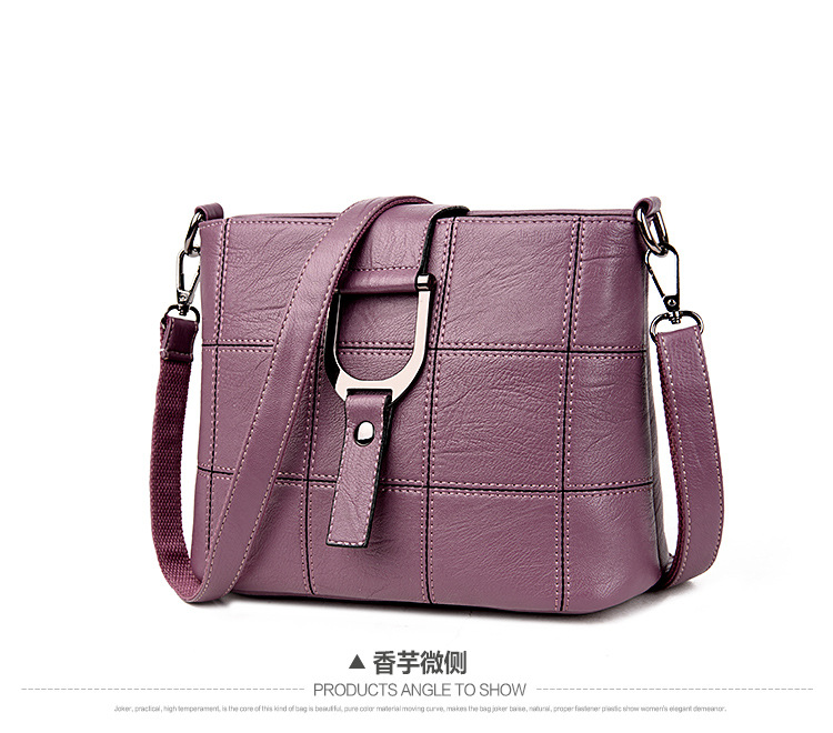 Korean version PUShoulder bag (Taro purple)NHPB0324-Taro purple
