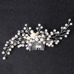 Hairpin hair clip hair accessories for women Mother handmade pearl hair comb silver plate hair accessories wedding dress accessories headdress accessories