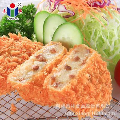 泰祥裹粉牛肉土豆饼出口品质 儿童油炸冷冻食品厂家促销一件代发