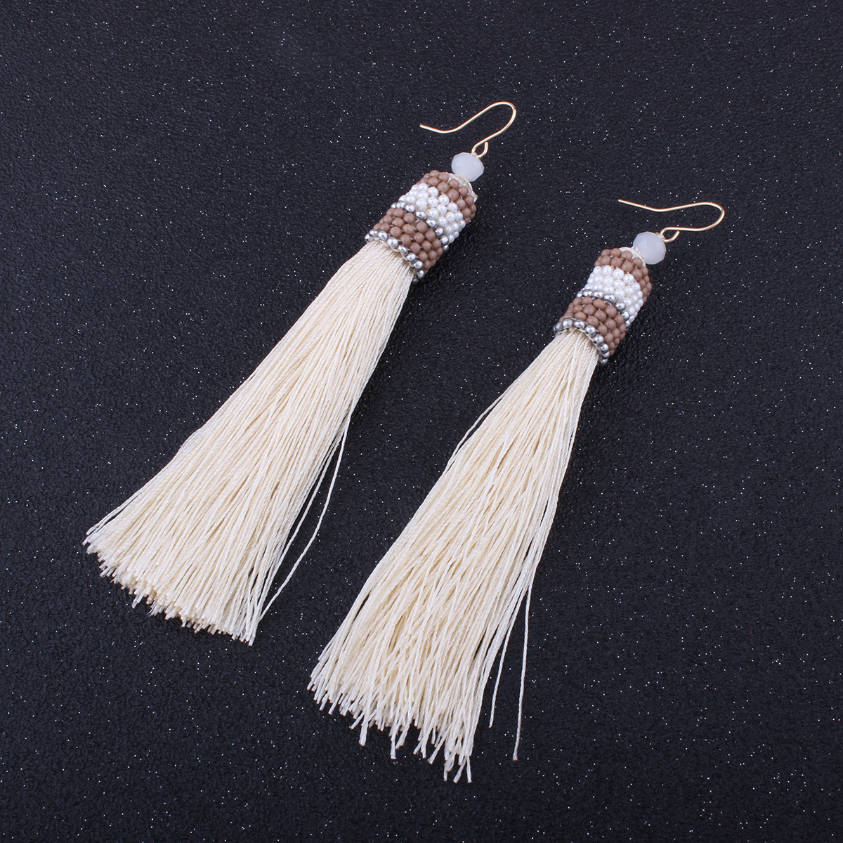 Occident and the United States alloy manual earring (Light brown)NHNMD3808-Light brown