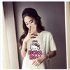 Shipping 9.9 new summer t-shirt size A long short sleeved casual cartoon character T skirt for real activity