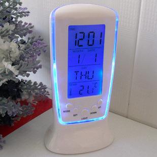 510時計迷你小鬧鐘LED夜光音樂鬧鈴靜音懶人電子鐘帶溫度創意禮品