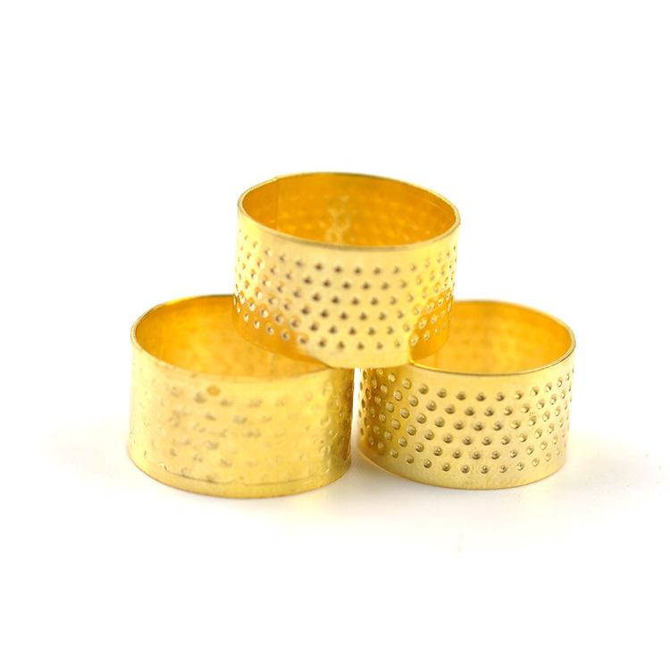 家用縫紉DIY工具 銅頂針 金色頂針  家庭縫補用壓針器頂 針箍 2G