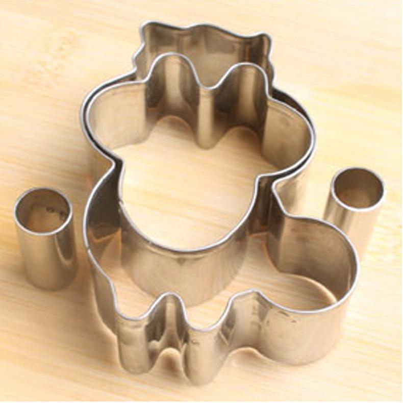 工厂供应不锈钢浣熊饼干模具切饼器烘焙器具DIY烘焙模具水果切模