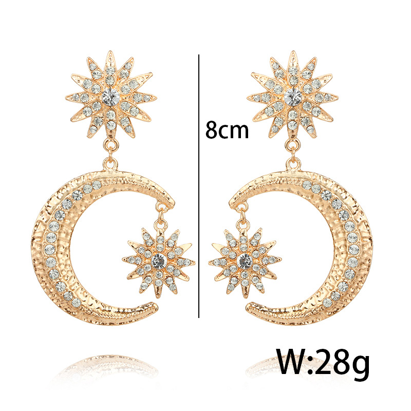 Occident and the United States alloy plating earring NHGY0667