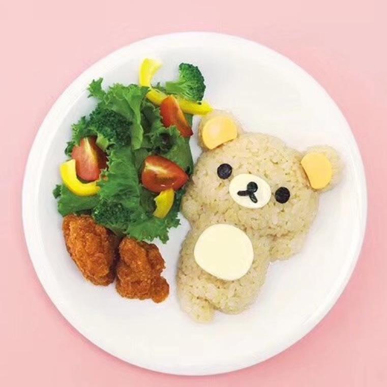 拉拉熊盖浇饭模具赖熊小鸡饭团模具组合  寿司爱心便当模