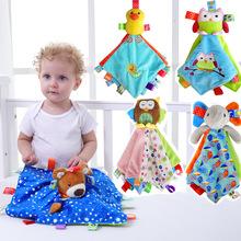 JJOVCE婴儿可入口安抚巾0-18月宝宝睡眠安抚玩具手偶毛绒玩偶公仔