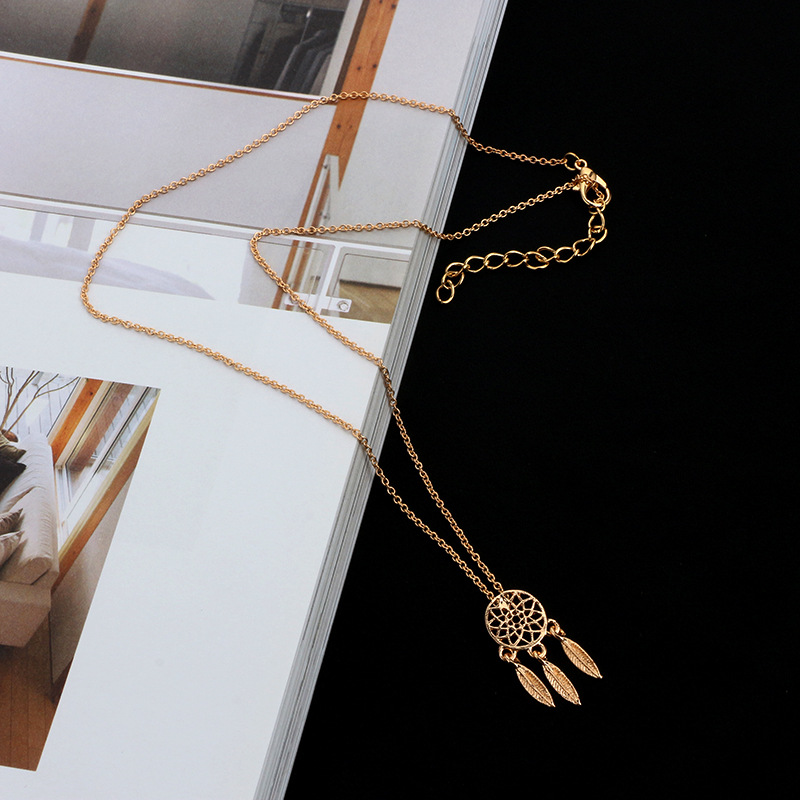 Fashion Alloynecklace Geometric (Golden)NHGY1495-Golden