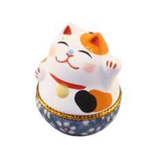 預售 日本京都可愛石膏招財貓手工藝品擺件生日禮物18-172