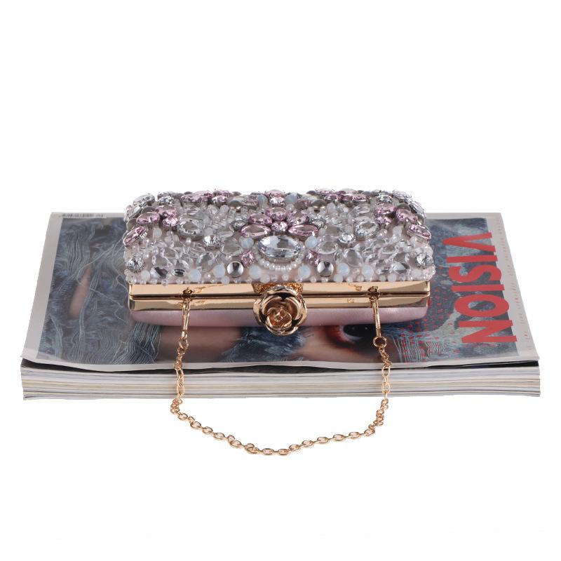 Stylish minimalist beaded evening bag NHYG139607