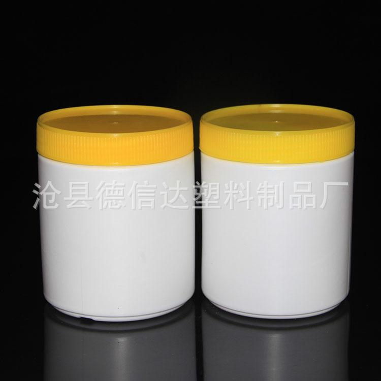 大量生产 500g广口塑料瓶 兽药粉剂瓶 农药瓶 500ml大口粉末瓶子