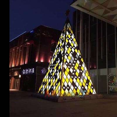 工厂专业定做大型圣诞树 圣诞树 led灯带圣诞树 圣诞节美陈厂家直