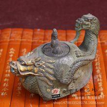 新品古董古玩雜項純銅古玩擺件觀音佛像大明宣德年制銅佛 龍龜壺