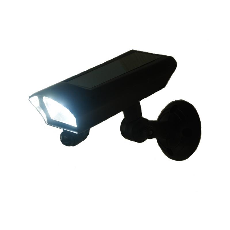 仿摄像头太阳能灯人体智能感应晶硅太阳能板LED灯太阳能发电灯